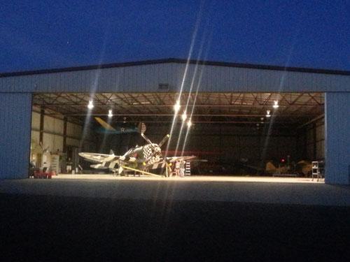 P47 Snafu in hangar